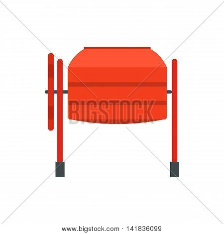 Mixer icon in flat style isolated on white background. Construction symbol