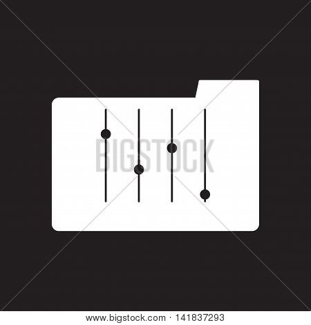 Flat icon in black and  white folder