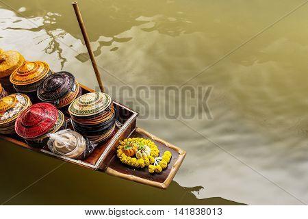 Transportation Of Floating Market In Bangkok, Thailand