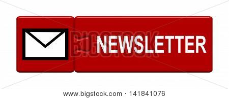 Isolated Puzzle Button with symbol is showing Newsletter