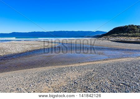 On The Seaside In South Island, New Zealand