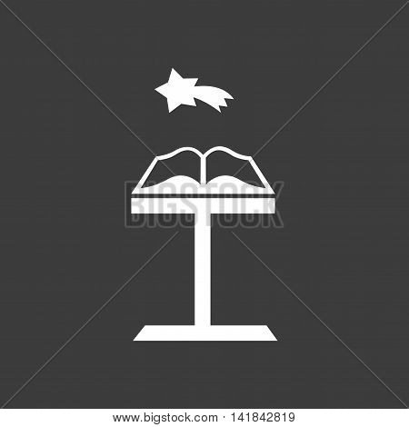 flat icon in black and white style holy book