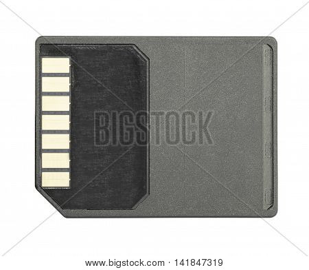Sd Memory Card On White Background