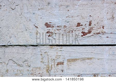 Old Woodan Wall, Shabby White Paint As Background