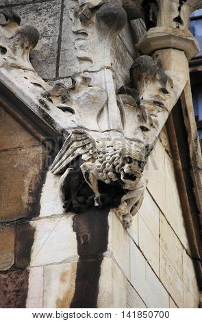 Gargoyle in Westminster Palace in London UK