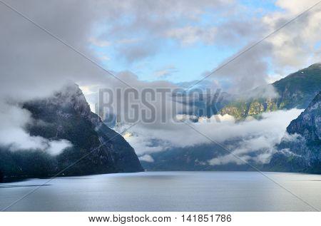 Sognefjorden in norwegian Fjords scandinavia northern europe
