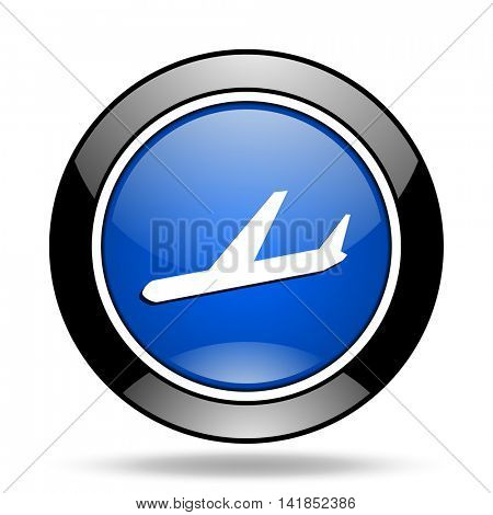 arrivals blue glossy icon
