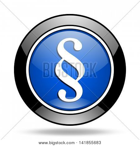 paragraph blue glossy icon
