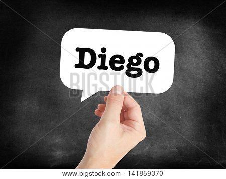 Diego written in a speechbubble