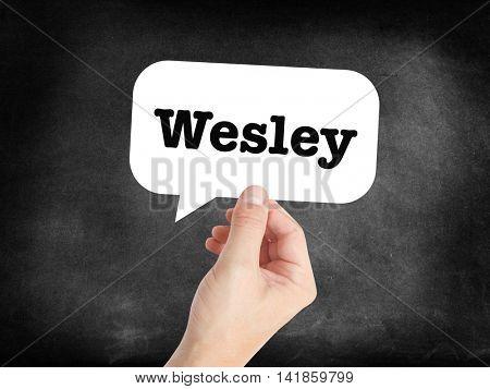 Wesley written in a speechbubble