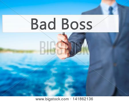 Bad Boss - Business Man Showing Sign