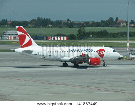 Airbus A319 Of The Czech Airlines