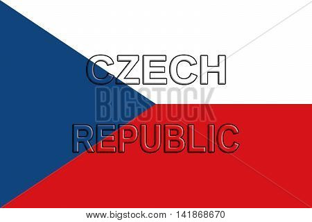 Flag of the Czech Republic. The Czech Republic also known as Czechia is a country in Central Europe.