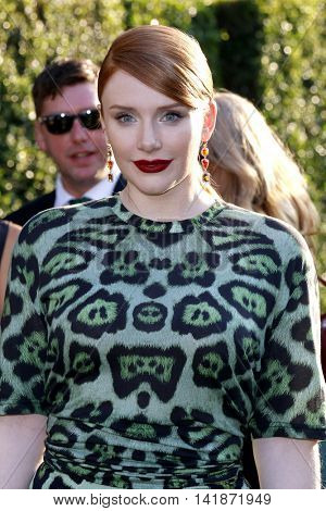 Bryce Dallas Howard at the World premiere of 'Pete's Dragon' held at the El Capitan Theatre in Hollywood, USA on August 8, 2016.