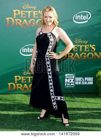 Beverley Mitchell at the World premiere of 'Pete's Dragon' held at the El Capitan Theatre in Hollywood, USA on August 8, 2016.