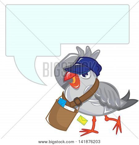 This file represents a postman seagull with a message board.