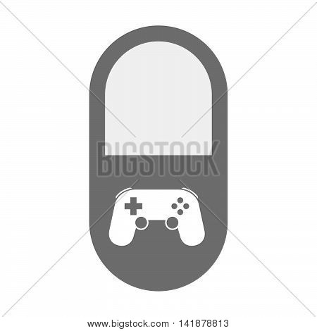 Isolated Pill Icon With  A Game Pad