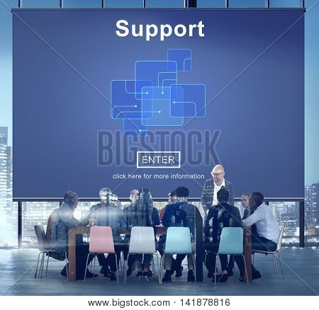 Support Community Aid Help Team Assistance Concept