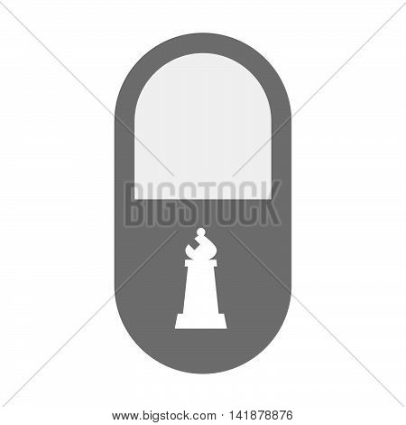 Isolated Pill Icon With A Bishop    Chess Figure