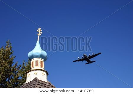 Chruch And Plane