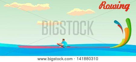 single rowing summer play . Rio, Brazil