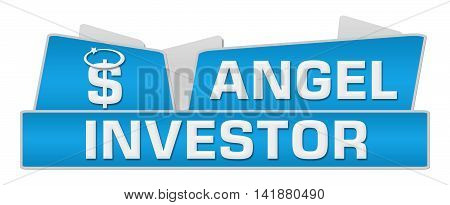 Angel investor concept image with text and conceptual symbol.