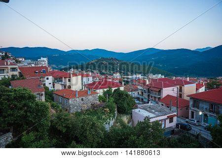 Cityview At Mountain Village Of Karpenisi, Evritania, Greece
