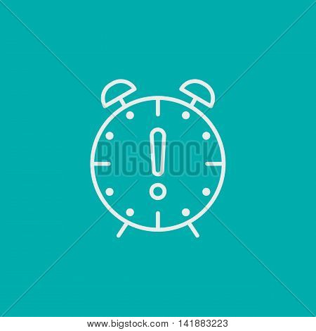 Project Management Icons On Deadline And Time Management. Simple Isolated Thin Line Web Icon. Can Be