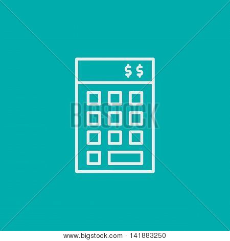 Project Management Icons On Financial Budget And Investment. Simple Isolated Thin Line Web Icon. Can