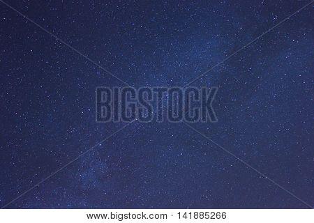 Milky Way stars in clear night sky