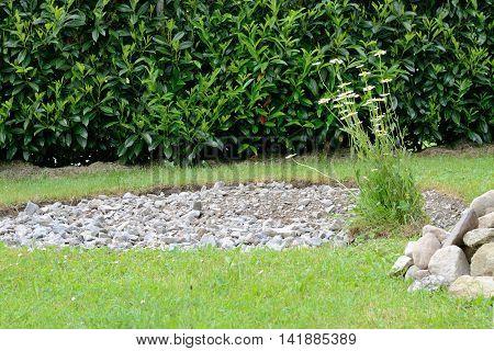 build herb spiral in the garden itself