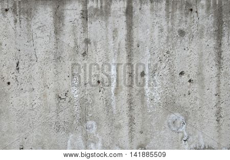 Concrete Wall At Construction Site
