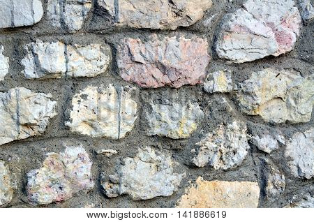 Facade of stone Background and texture for text or image