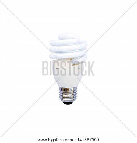 Closeup energy saving lamp isolated on white background.