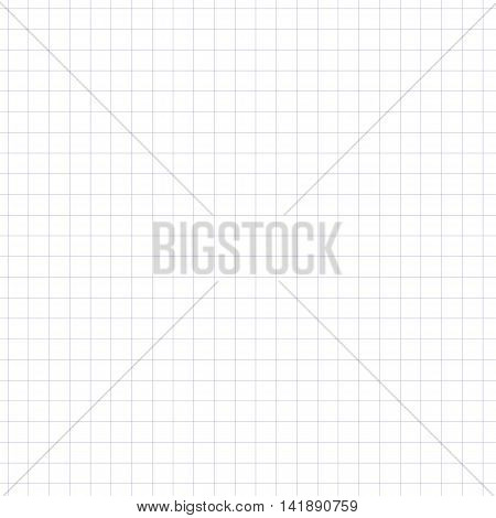 Seaamless pattern of sheet of notebook. Book in a cage.Seamless pattern included in swatch panel.Vector background.