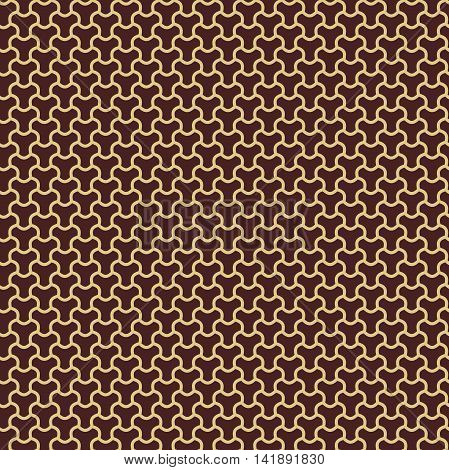 Seamless pattern. Modern geometric pattern with repeating elements. Brown and golden pattern