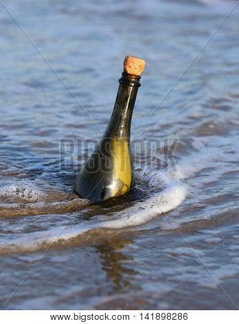 Bottle In The Ocean With A Message