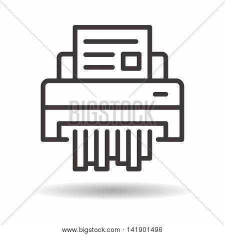 shredder paper flat icon on a white background