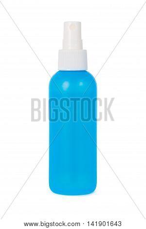 Gel Foam or Liquid Soap Dispenser Pump Plastic blue Bottle isolated on white background