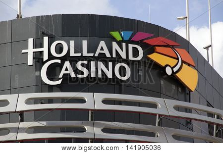 The Hague Netherlands-august 9 2016: facade of holland casino Holland Casino is the only legal provider of casino in Netherlands