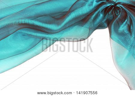 organza blue  fabric texture border frame background