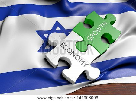Israel economy and financial market growth concept, 3D rendering