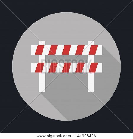 barrier over circle icon. Industry Security Construction. Colorfull Vector illustration