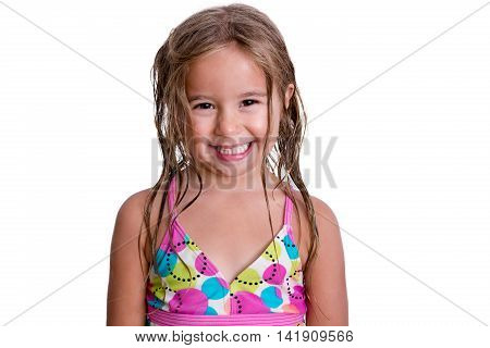 Happy Little Girl With Toothy Smile