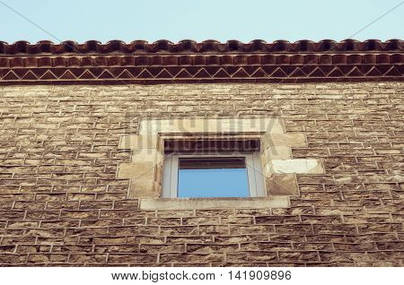 Ancient Wall With Window