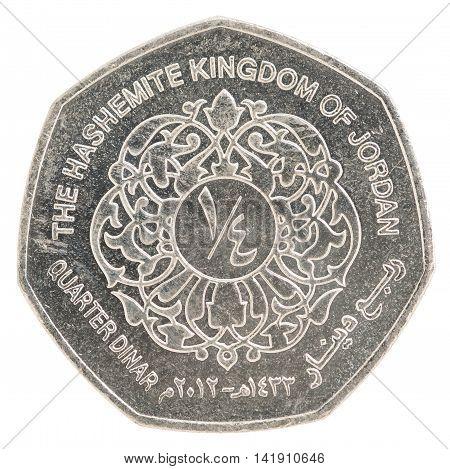 Quarter Jordanian Dinar Coin