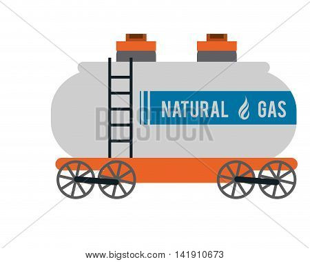 flat design natural Gas Truck icon vector illustration