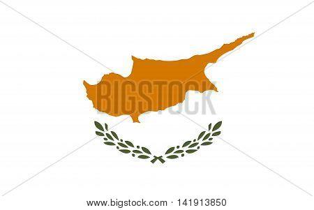Flag of Cyprus. Flag of Cyprus vector. Flag of Cyprus isolated.illustration
