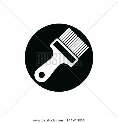 Renovation and repair instrument paint brush. Graphic 3d reparation tool three-dimensional