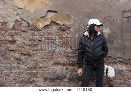 Girl And Grunge Wall